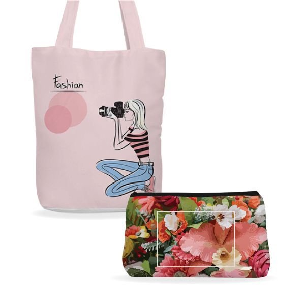 Tote Bag and Makeup Pouch