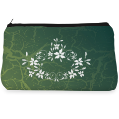 Green floral  Make up Pouch