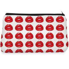 Red sexy lips Make up Pouch