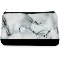 Black and white marble Make up Pouch