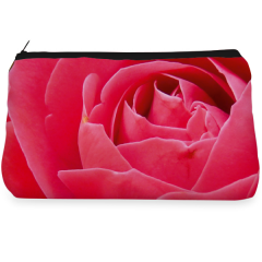 Pink rose bud Make up Pouch
