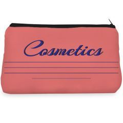 Pink cosmetic brush lipstick Make up pouch