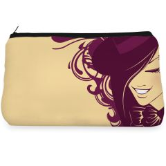 Beige fashionable lady Make up pouch