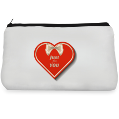 Red heart Make up Pouch