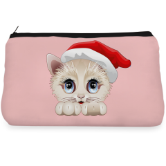 Pink & Cute Cat Make up Pouch