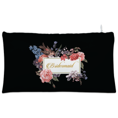 Black bride to be Cosmetic Pouch