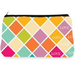 Multicolor blocks Make up Pouch