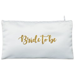 Golden bride to be Cosmetic Pouch