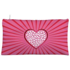 Pink heart love Cosmetic Pouch