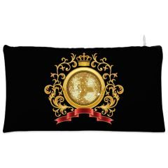 Black golden ball crown Cosmetic Pouch