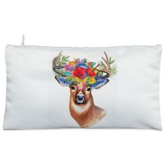 White reindeer Cosmetic Pouch
