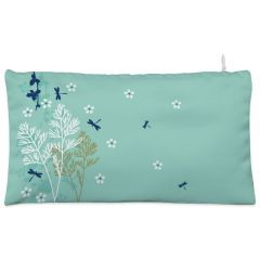 Green dragonfly leaf branch Cosmetic Pouch